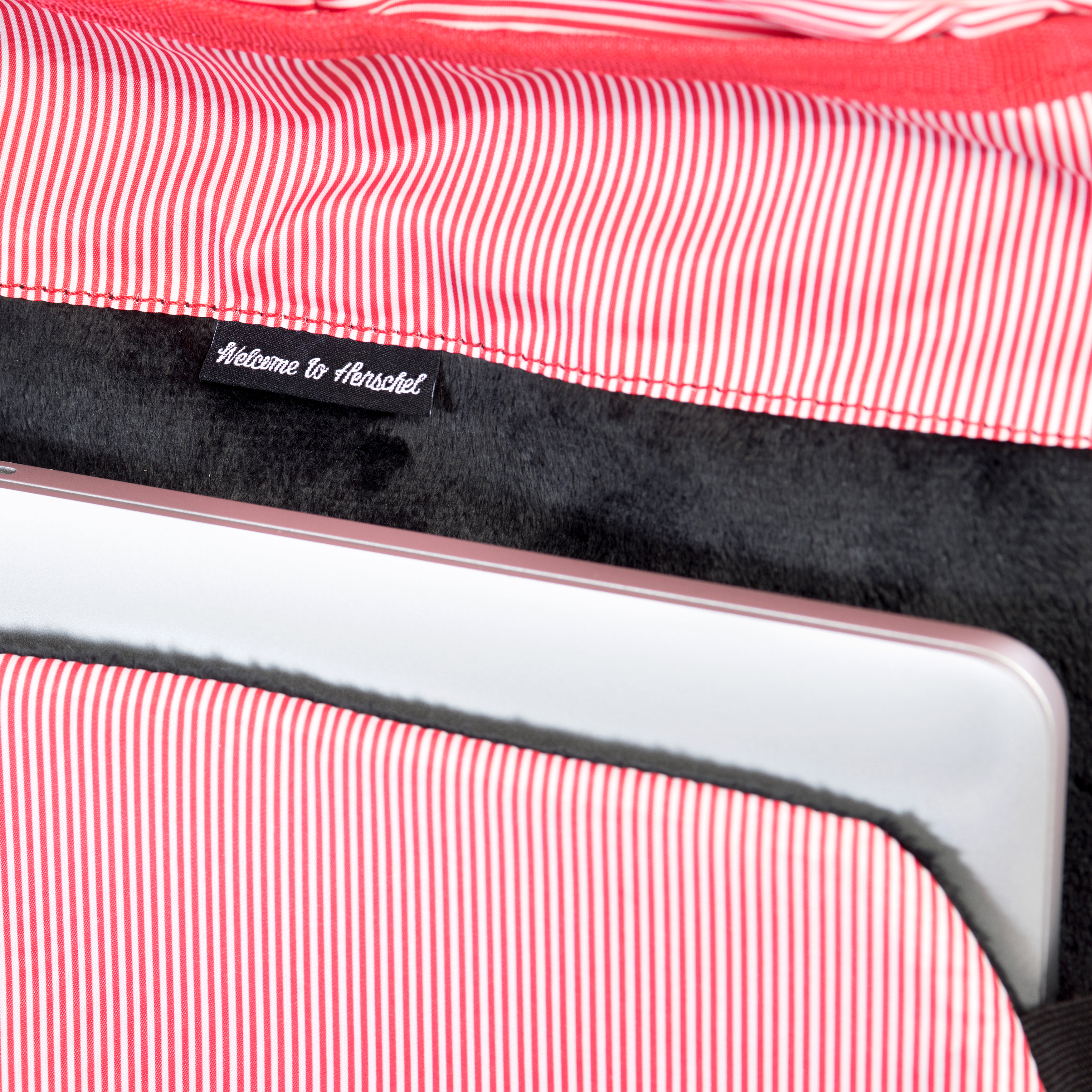 Custom striped fabric liner  Padded and fleece lined 15