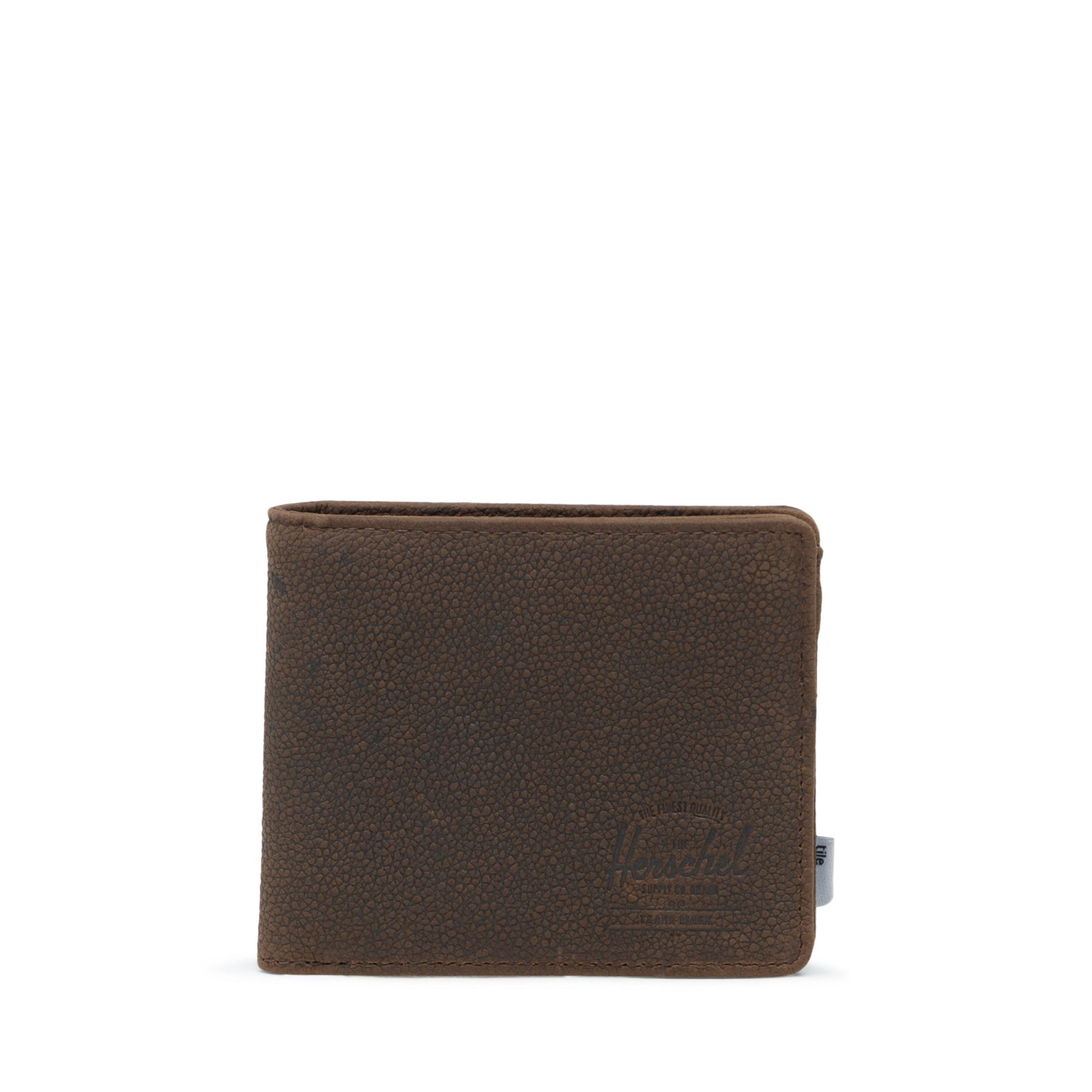 Herschel Roy Wallet Coin XL With Tile Brown Pebbled Nubuck