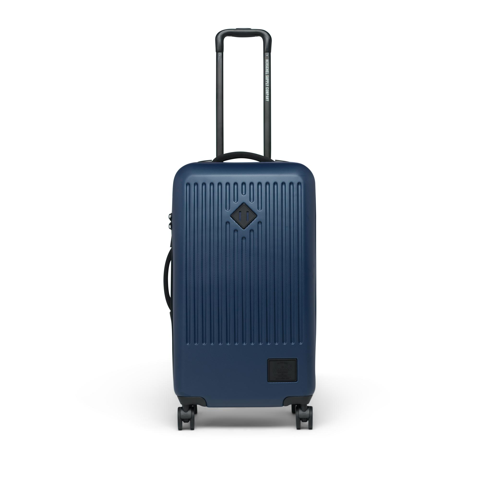 29-Inch Checked Bag Navy Herschel Trade Hardside Spinner Medium Checked Luggage
