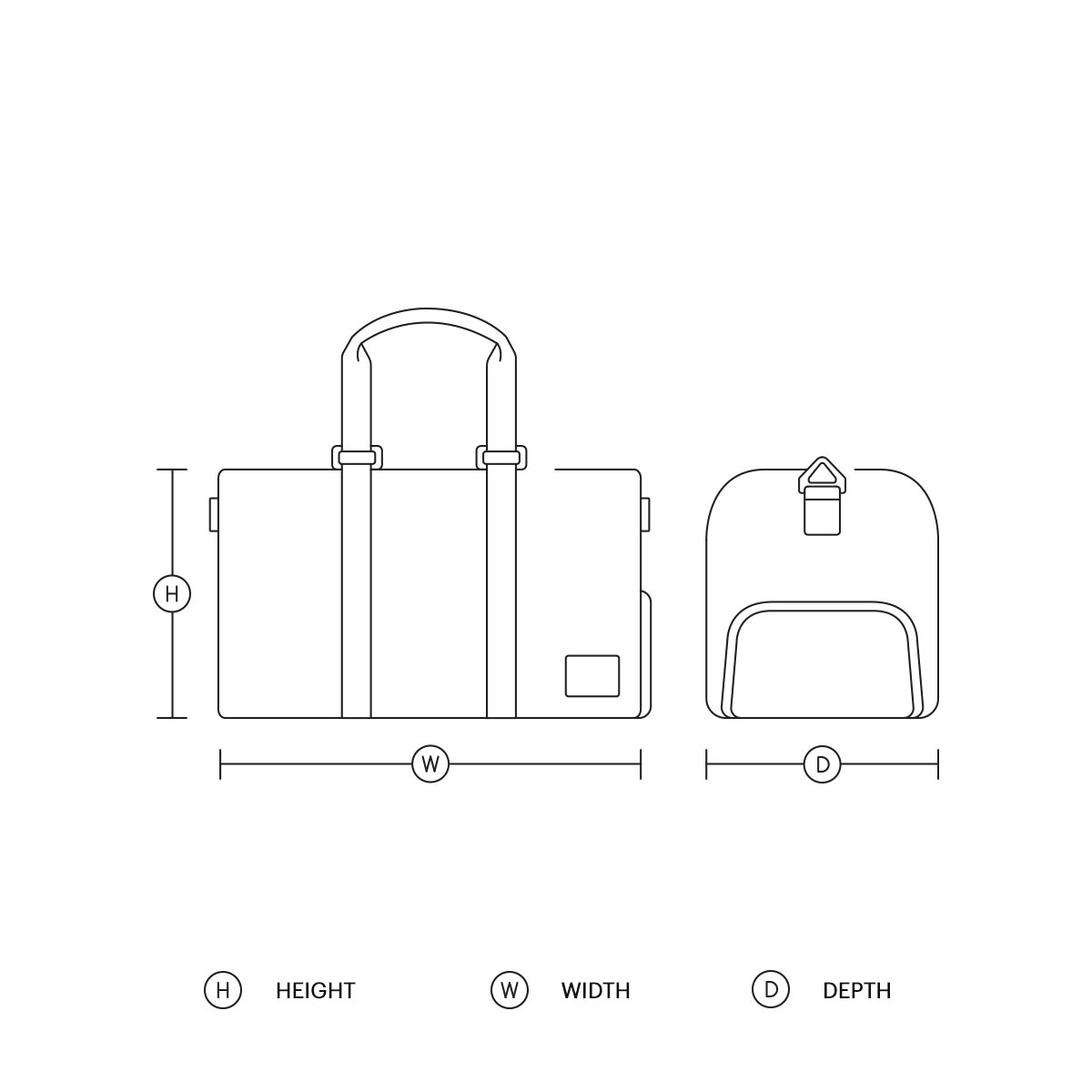 Size Guide for Duffles